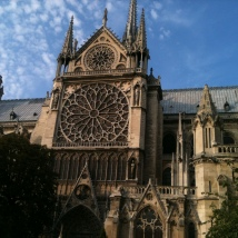 Side wall of the Notre Dame, Paris
