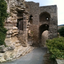 Walls still standing after many many years holding many hidden stories we will never know, Provence, France
