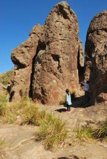 Exploring Hanging Rock near Mt Macedon